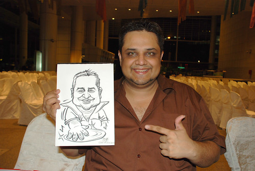 caricature live sketching for kidsREAD Volunteer Appreciation Day 2011 - 26