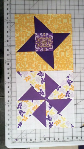 Sew Happy Quilt ALong Blocks 3 and 4 by labellacolori