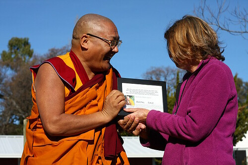 Venerable Geshe Phelgye sharing