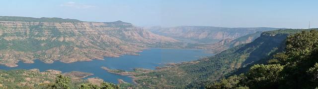 The Krishna river at its source