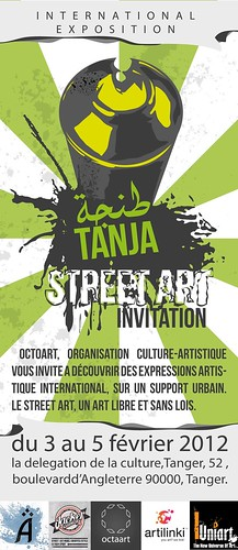 Tanja Street art (international exposition) by STENCILNOIRE