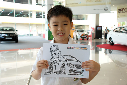 Caricature live sketching for Tan Chong Nissan Motor Almera Soft Launch - Day 4 - 3