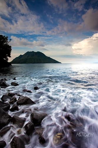 sea mountain maluku ternate moluccas matrach