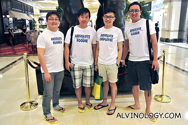 These four dudes bought matching tees at SM Mall of Asia