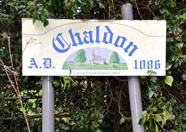 Chaldon sign family walk chaldon christmas day 2011 for Chaldon church mural