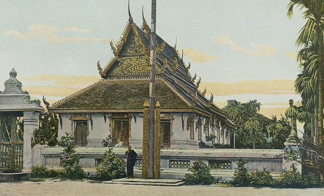 Indochine 1903 - Cambodge - une pagode à Pnom Penh