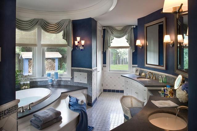Lake house in new hampshire by cebula design master bath - Lake house bathroom ideas ...