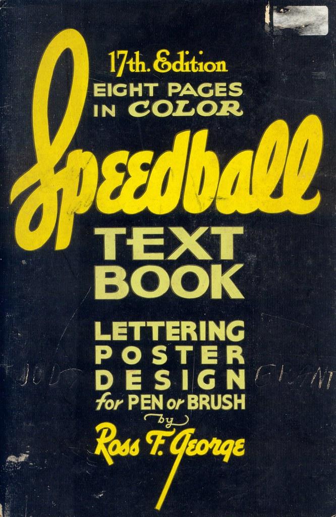 Speedball lettering (1957)