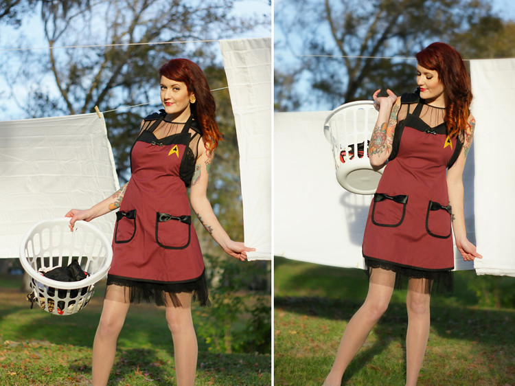 Star Trek Apron by Haute Mess  Threads