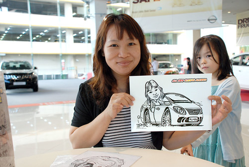 Caricature live sketching for Tan Chong Nissan Motor Almera Soft Launch - Day 4 - 14