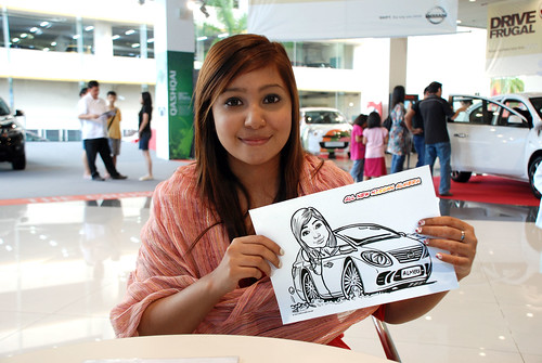 Caricature live sketching for Tan Chong Nissan Motor Almera Soft Launch - Day 4 - 18