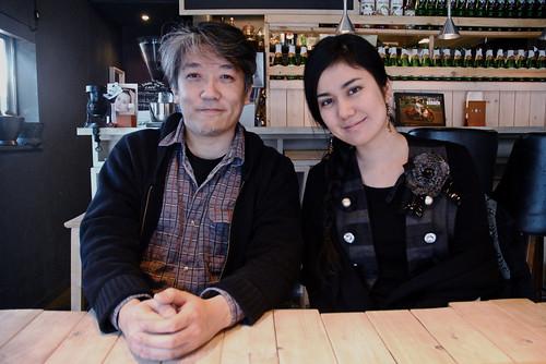 Masashi Hamauzu and Mina in Yokohama
