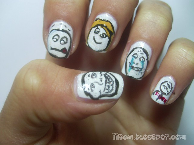 Troll Face Nail Art (4)