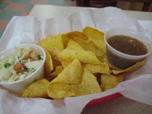 Complimentary Chips/Salsa at Chris' Restaurant