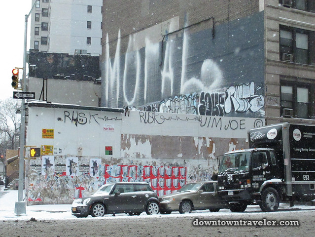 NYC Snowstorm January 2012 Grafitti Wall