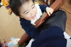 ポケットをごそごそするとらちゃん(2012/1/16)