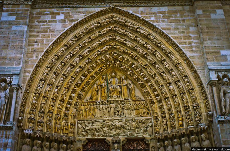 Above the entrance of Notre-Dame de Paris