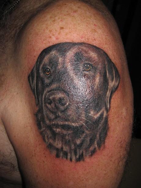 Black lab portrait tattoo explore uniqueink 39 s photos on for Ink lab tattoo