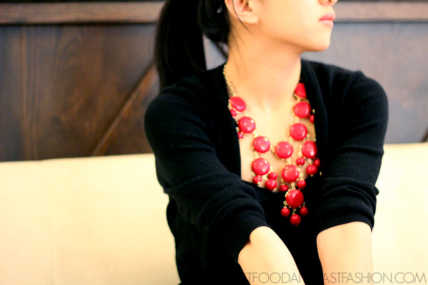 j crew bubble necklace modern red