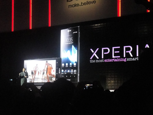 CES 2012 - Sony press event - XPERIA mobile phone