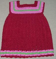 Virkattu mekko n. 80-90 cm