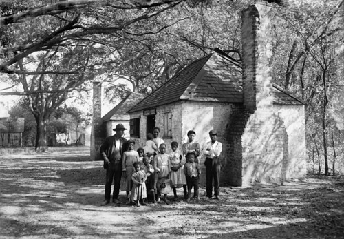 A black family at the Hermitage Plantation, Savannah, Georgia, USA, about 1907