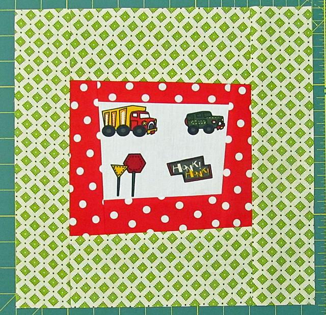 truck quilt block