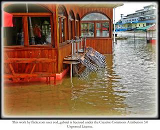 Flooded waterfront, Braila, summer 2010