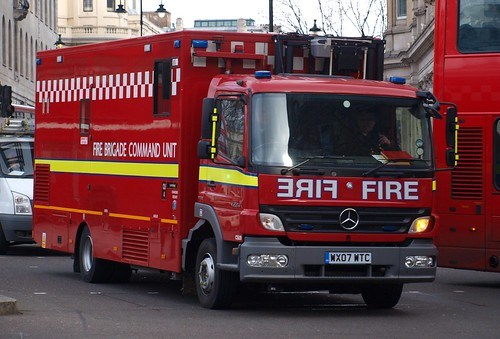 London Fire Brigade, Mercedes Atego, Command Unit, WX07 WTC
