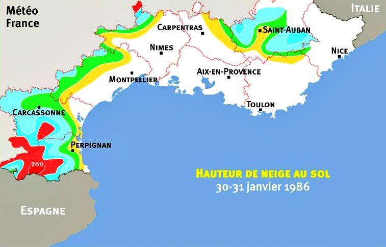 hauteurs de neige des 30 et 31 janvier 1986 météopassion