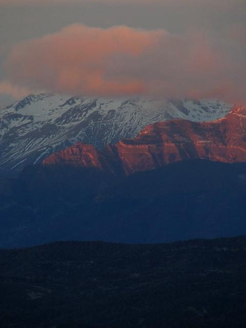 Los montes de Biescas desde Monrepós