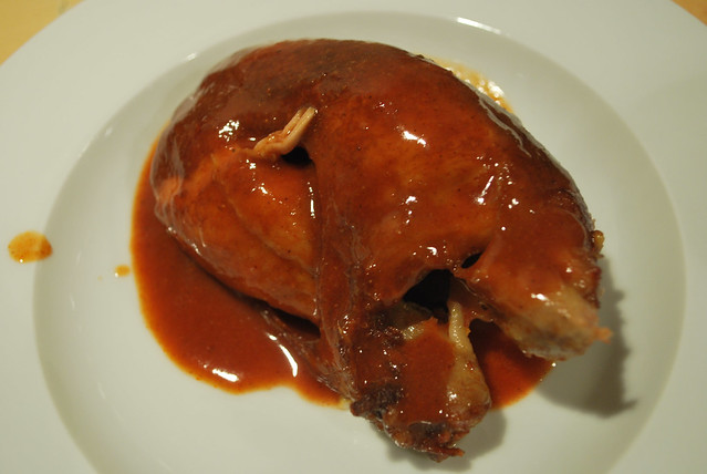 Rotisserie chicken bathed in Toronto-style churrasco sauce