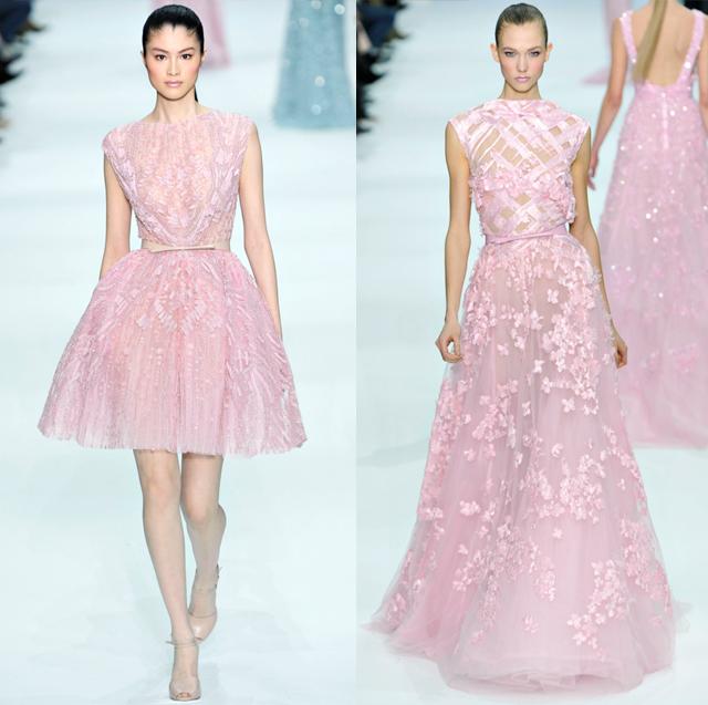 Elie Saab pastel dresses-Spring Couture 2012-pink