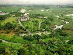 俯瞰關渡自然公園濕地全貌。照片提供:關渡自然公園管理處