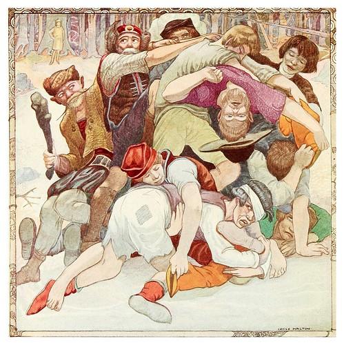 013-La lucha por las botas magicas-Polish fairy tales 1920-Cecile Walton