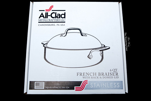 All-Clad 6-quart French Braiser with rack & domed lid