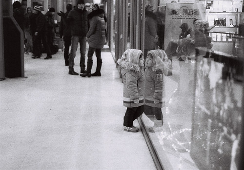little girl in shop