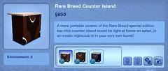 Rare Breed Counter Island