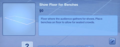 Show Floor for Benches