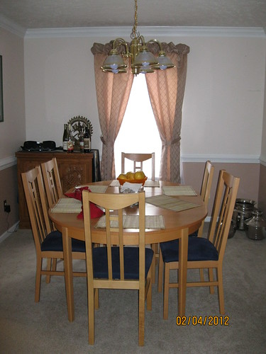 """Staging"" the dining room"