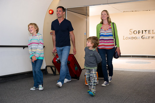 A family leaving London Gatwick bound for a great holiday adventure!
