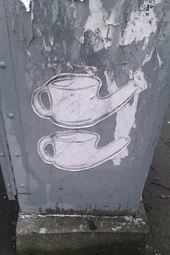 Neti pots? Street art is grtting weird. :) by christopher575