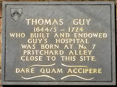 Photo of Thomas Guy grey plaque