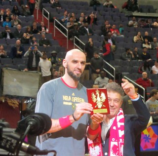 Marcin Gortat, Polish Heritage Night, washington wizards, truth about it, poland, adam mcginnis, Ryszard Schnepf, Poland's Ambassador to the United States