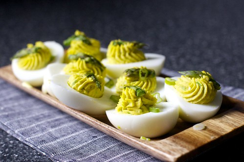 Asparagus Stuffed Eggs