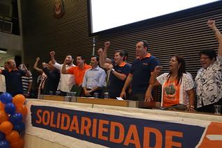 Palco do 1º Encontro Estadual do Solidariedade-SP
