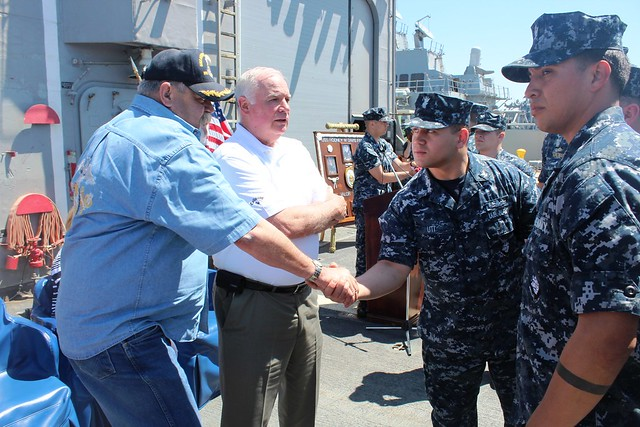 USS Rodney M Davis Celebrates Namesake's Birthday