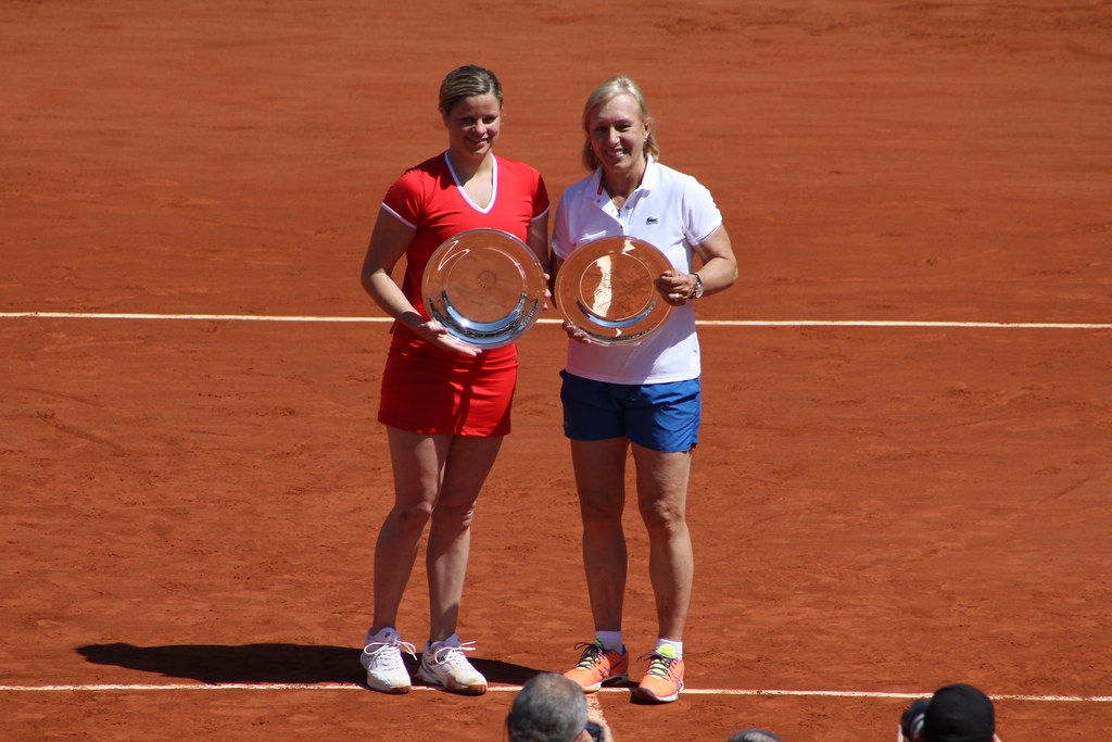 Clijsters and Navratilova