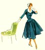 Vintage Fashion Illustration (1952)