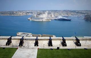 Saluting battery Valletta Malta